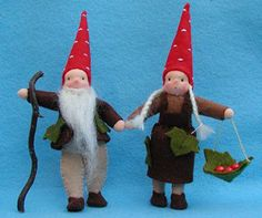 Inspiration: Mom and Dad Gnomes from BEAR DANCE CRAFTS - All crafts from Bear Dance Crafts are available for purchase.