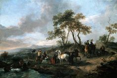 Philips Wouwerman - Stop van een jachtpartij