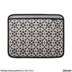 """Rickshaw MacBook Air sleeve with beautiful black & white pattern.  It is simple, stylish and made with water resistant fabrics and an ultra-plush padded liner. Sized for MacBook Air 11"""" or MacBook Air 13""""  $69.45"""
