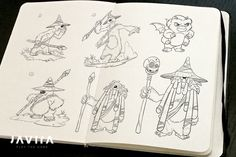 Concept sketches for the Druid and Ogies in TIMO...   Developer blog