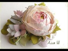 "МК Цветы из фоамирана. Заколка зажим ""Розовая мечта""."
