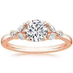 14K Rose Gold Verbena Diamond Ring from Brilliant Earth