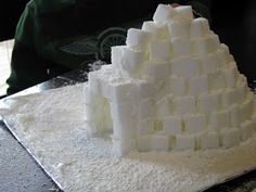 Making Merry Memories: Sugar Cube Igloo