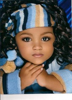 Beautiful African American girl in winter wear.