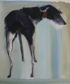 Daily dog art news. New artists, established artists and trends in the modern dog art world. Great resource for pet portraits and dog lover gifts. Dog Artist, Art Advisor, Lurcher, Wow Art, Dog Portraits, Animal Paintings, Oeuvre D'art, Pet Birds, Les Oeuvres