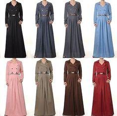 Coat Dresse abaya long sleeve dress casual dress Islamic clothing S M L