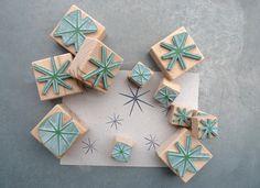 Stempel-Set: großer Stern & kleiner Stern von karamelo auf DaWanda.com