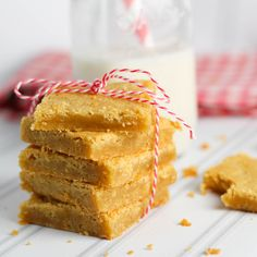 This recipe for blondies produces treats that are sweet, but not too sweet, simple, and delicious!
