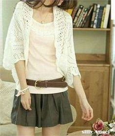 sweaters and shawls crochet | Korean Fashion Women Hollow Crochet Lace Shawl Cardigan Bat Jacket