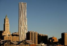 The ugliest buildings in NYC NEW YORK BY GEHRY  8 SPRUCE ST BETWEEN GOLD AND NASSAU