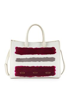 Pandora+Vitello+Leather+Tote+Bag,+Beige+by+VBH+at+Neiman+Marcus.