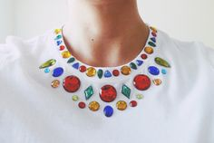 diy: gem embellished shirt | owl vs. dove  to look like this: http://www.nastygal.com/whats%2Dnew/jeweled%2Dtee