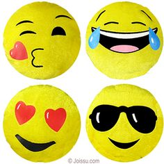 MINI PLUSH EMOJIS. These adorable emoji smiley faces are imprinted on super-soft velour. Assorted styles. Perfect for Mother's Day, Valentine's Day and Father's Day gifts. Also, ideal for Easter basket treats and party favors.  Size 4 Inches