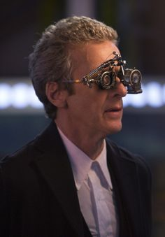 Peter Capaldi wears stylish glasses in Doctor Who