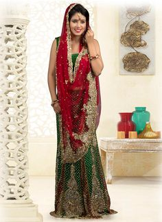 Exquisite Crystals Enhanced Net Lehenga Saree