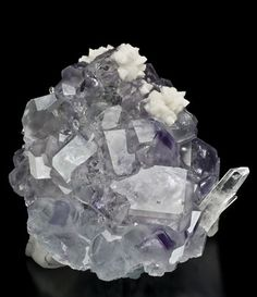 Fluorite with Quartz and Dolomite Shangbao Pyrite Mine China cabinet specimen