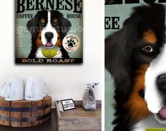 Berner Sennenhund Record Company grafik Illustration auf