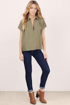 Schooled You Collared Blouse$36