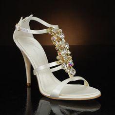 GIUSEPPE ZANOTTI I00131 Wedding Shoes and I00131 Dyeable Bridal Shoes IVORY