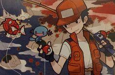 Fisher (Trainer class) - Bulbapedia, the community-driven Pokémon encyclopedia Pokemon Cards, Disney Characters, Fictional Characters, Disney Princess, Anime, Illustrations, Water, Art, Gripe Water
