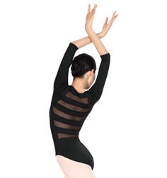 Adult 3/4 Sleeve Striped Back Leotard - Style No N8678 -- We LOVE how elegant this leotard is! Perfect for ballet class!