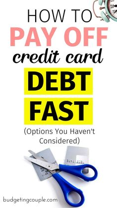 Want to pay off your credit card debt FAST? Check out our ultimate guide to paying off your debt in the most timely (and money saving) fashion. Money Plan, Paying Off Credit Cards, Saving For College, Money Saving Tips, Money Hacks, Money Tips, Investing Money, Debt Payoff, Budgeting Tips