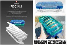 Tackle Box Scatola Porta Artificiali Moncross Trasp  220x110x32mm - EUR 9.90