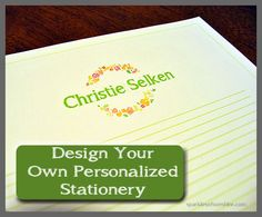 Design Your Own Personalized Stationery Sparkles of Sunshine #retrorepin 24