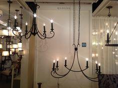 Salinas - black finish chandeliers!!