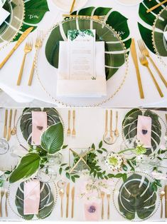 Tropical Wedding Centerpieces, Tropical Wedding Reception, Palm Wedding, Hawaiian Party Decorations, Bridal Shower Decorations, Wedding Decorations, Luau Wedding, Bridal Shower Games, Centerpiece Decorations