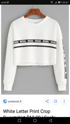 White Letters, Lettering, Sweatshirts, Sweaters, Fashion, Hoodies, Fashion Styles, Sweater, Trainers