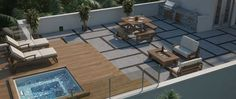 concrete roof top deck with jacuzzi - Google Search