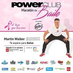 Ya te inscribiste en la #MaratónDeBaile @powerclubpanama sábado 3 de octubre con @mwpersonaltrainer uno de los instructores costo B/.20.00 #YoBailoEnPowerClub a beneficio de @fundacancer