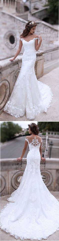 0e4a6e01ac9bc Charming Off Shoulder Sexy Mermaid White Lace Bridal Gown, Wedding Dresses,  WD0058 Dream Dress