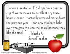 Essential Oils: Lemon School Teacher