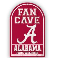 NCAA Wooden Fan Cave Sign