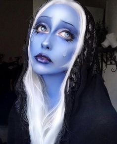 hair steven universe Blue Diamond cosplay - just got all caught up! Blue Diamond cosplay - just got all caught up! Still can't get over how cool blue diamond is : stevenuniverse Sfx Makeup, Cosplay Makeup, Makeup Art, Makeup Inspo, Makeup Inspiration, Blue Diamond Steven Universe, Universe Art, Fantasy Makeup, Best Cosplay