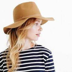 J.Crew new arrivals // Wide-brimmed Italian wool-felt hat