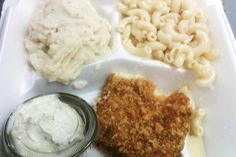 FRIED FISH   Luby's Cafeteria Copycat Recipe   Serves 6   Fish:   1 cup flour  2 1/3 cups finely crush saltine crackers  1 cup buttermil...