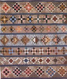 Pieced Quilt Sampler Bars, 1840. Maker unknown.
