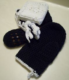 Bath and Shower Gift Set  Black and White $7.98