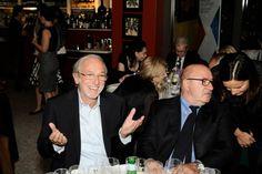 The famous Italian architect Renzo Piano with Dante Ferretti at Eataly NY