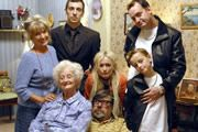 The Royle Family  The Royles are a family of couch potatoes who watch television in their dirty living room whilst chatting, arguing, and drinking copious amounts of tea and alcohol.