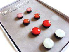 Modern Gems Gift Set - Polymer Clay and Resin Earrings - Set of 4 Earrings - 6mm Earring Studs - 8mm Stud Earrings