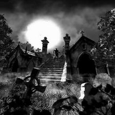 Haunted Graveyard, Graveyard Tattoo, Zombie Drawings, Dark Art Drawings, Arte Horror, Horror Art, Gothic Wallpaper, Beautiful Dark Art, Dark Spirit
