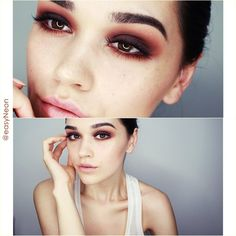 love the colors of this earthy smokey eye ~ we ❤ this! moncheriprom.com