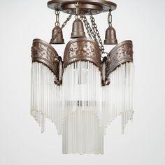 Kattovalaisin, lasipuikkokoristeet. Art Nouveau, Lamps, Chandelier, Ceiling Lights, Lighting, Home Decor, Lightbulbs, Candelabra, Decoration Home