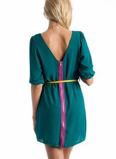 belted shift dress