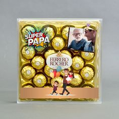 Personalised Fathers Day Ferrero Rocher Chocolate Holder on Stand Dad Gift Daddy