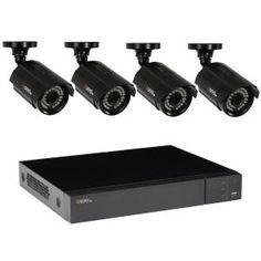 Q-SEE Video Surveillance System with 4 HD Bullet Cameras and 100 ft. Night - The Home Depot Storage Shed Kits, Wood Storage Sheds, Garden Storage Shed, Built In Storage, Best Home Security, Home Security Systems, Safe Door, Cedar Garden, Hillside Garden